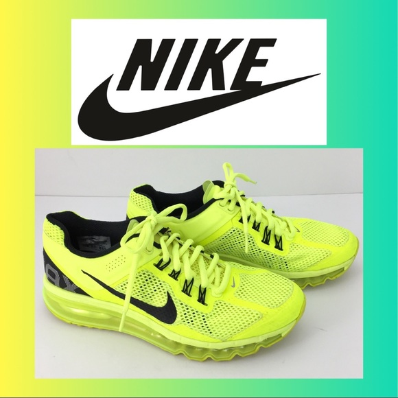 quality design b7bf2 84a23 ... YOUTH NIKE AIR MAX YELLOW RUNNING SNEAKERS. M 5a40108ba44dbe445b0133a7